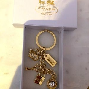 Brand new Coach key ring in box